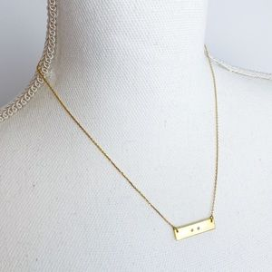 BaubleBar Delicate Gold Bar Layering Necklace